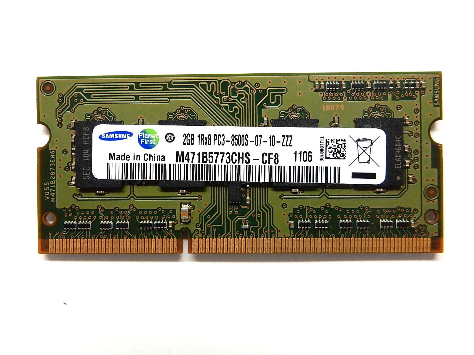 Samsung 2GB M471B5773CHS-СF8 2GB 1Rx8 PC3-8500S-07-10-ZZZ