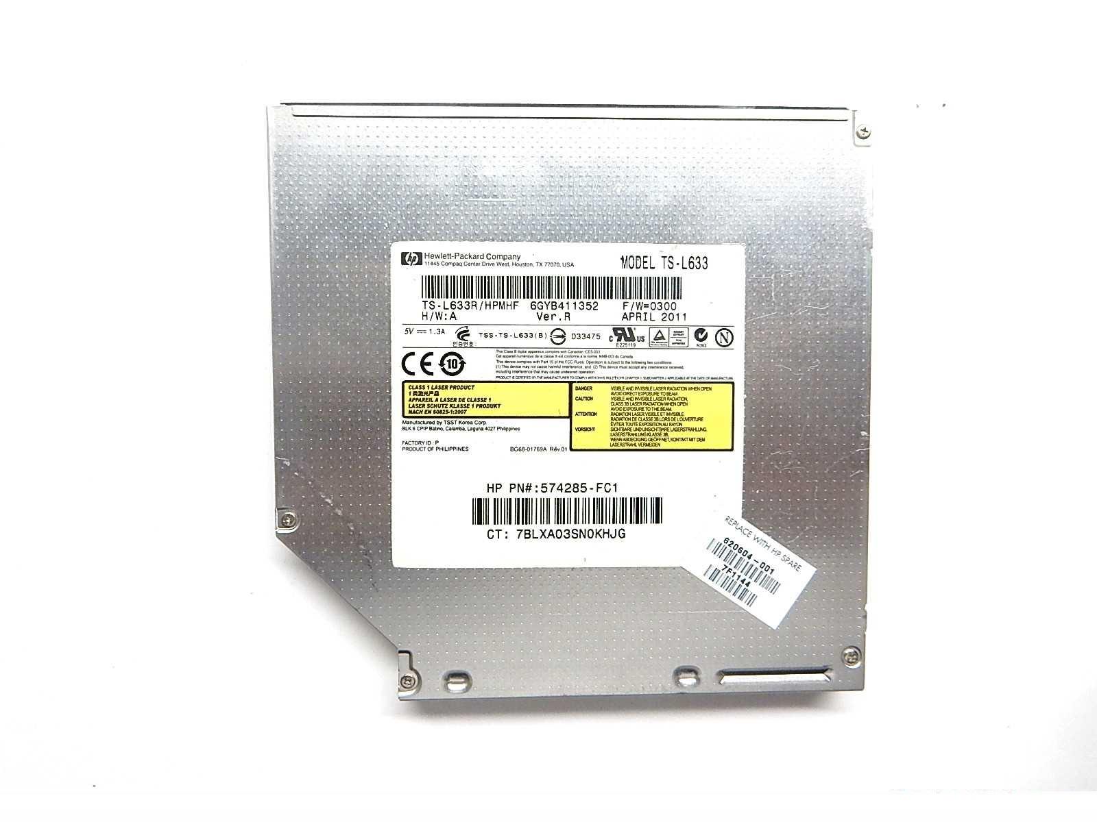 HP CDDVDW TS-L633R SATA DRIVERS PC